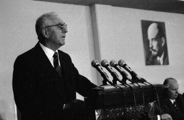 Przemówienie I sekretarza partii Edwarda Gierka.
