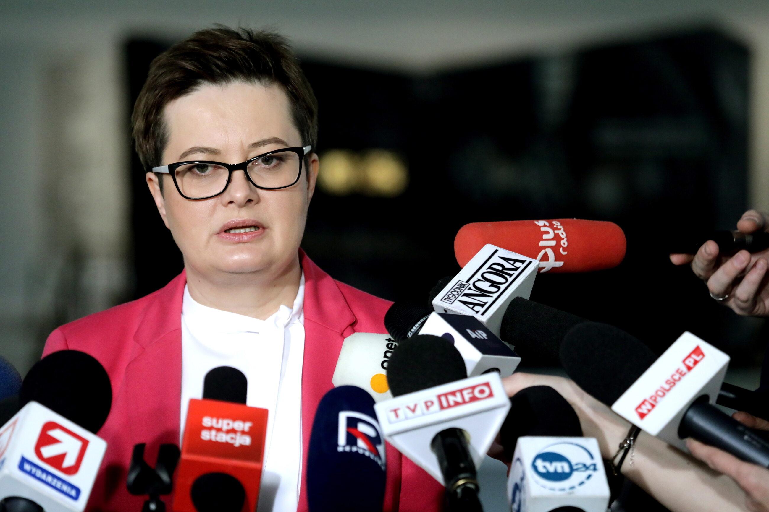 Przewodnicząca Klubu Poselskiego Katarzyna Lubnauer