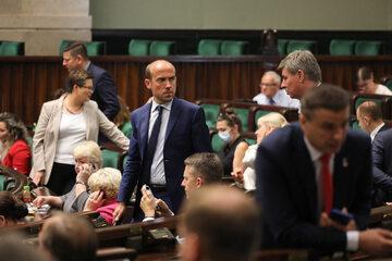 Przewodniczący Platformy Obywatelskiej Borys Budka (KO)