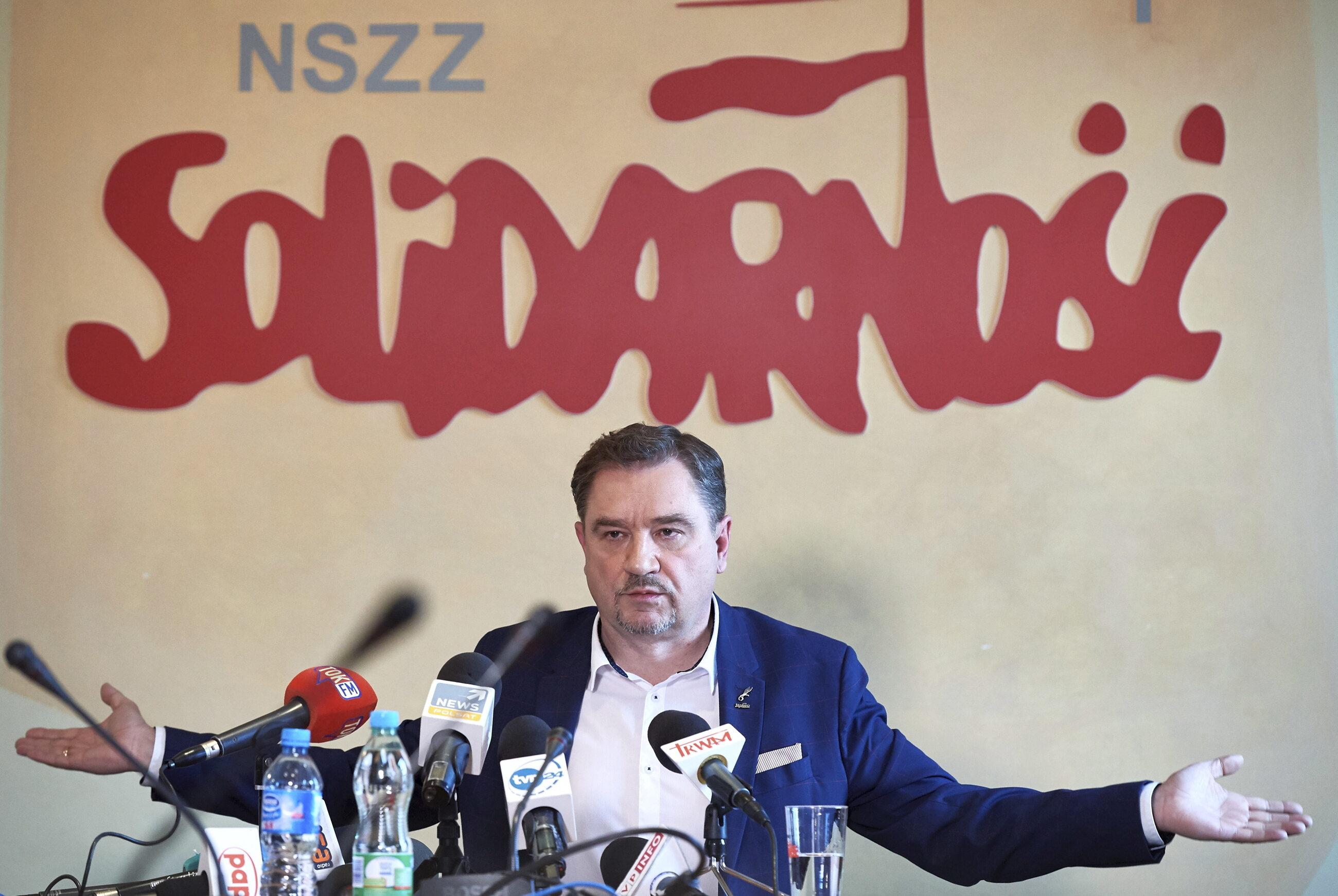 """Przewodniczący """"Solidarności"""" Piotr Duda"""