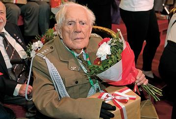 Pułkownik Kazimierz Klimczak, najstarszy żyjący powstaniec warszawski i jeden z ostatnich żyjących weteranów bitwy nad Bzurą