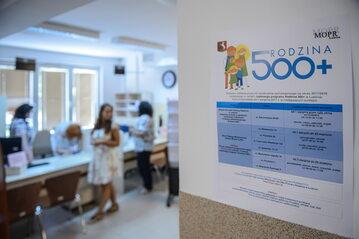 Punkt przyjmowania wniosków o świadczenia 500 plus w Miejskim Ośrodku Pomocy Rodzinie w Lublinie