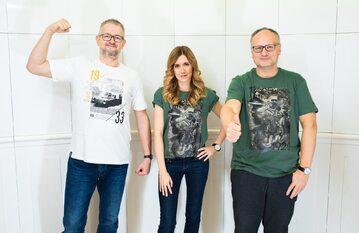 """Rafał A. Ziemkiewicz, Kamila Baranowska i Paweł Lisicki, redaktor naczelny tygodnika """"Do Rzeczy"""""""