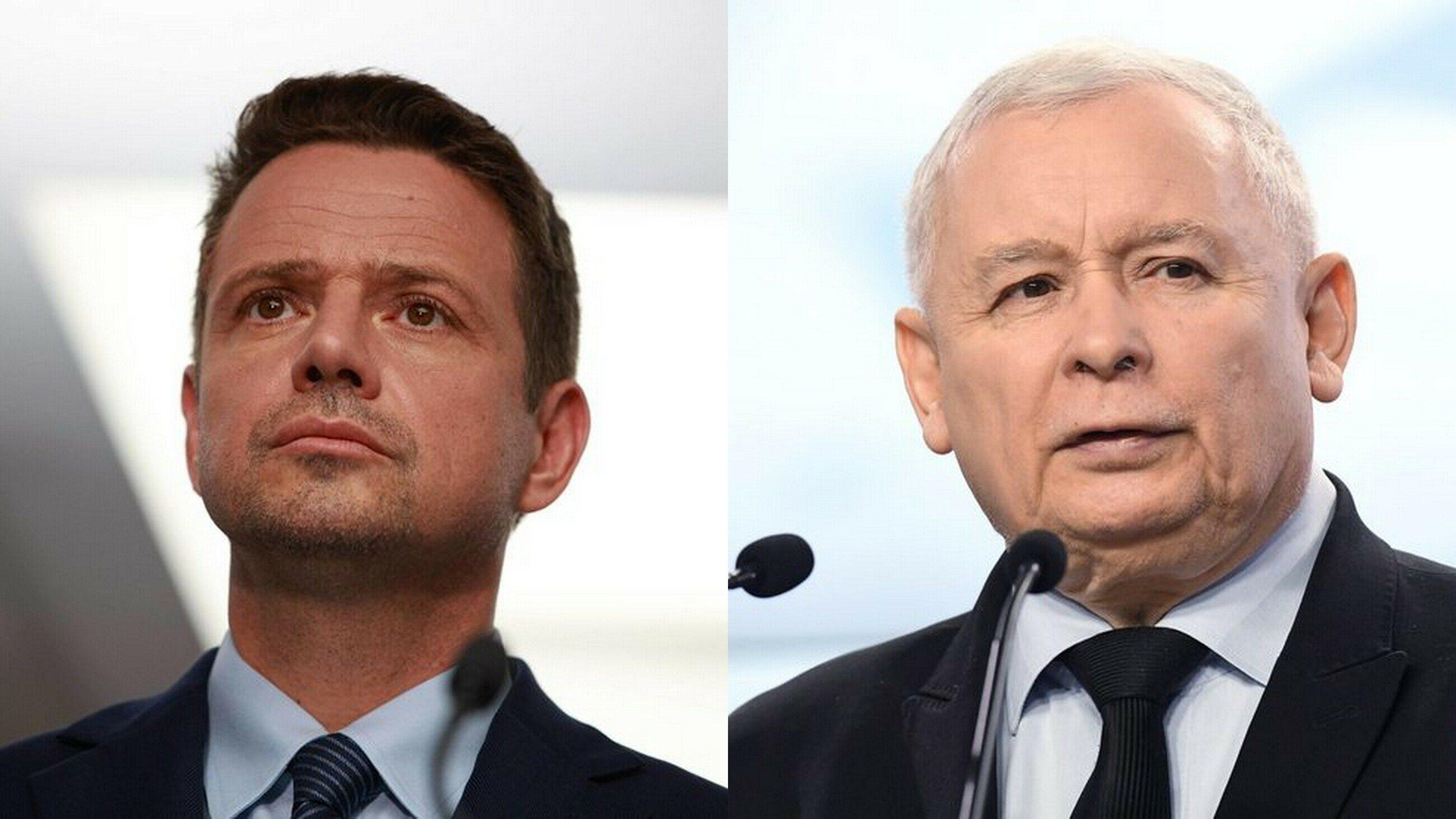 Rafał Trzaskowski i Jarosław Kaczyński