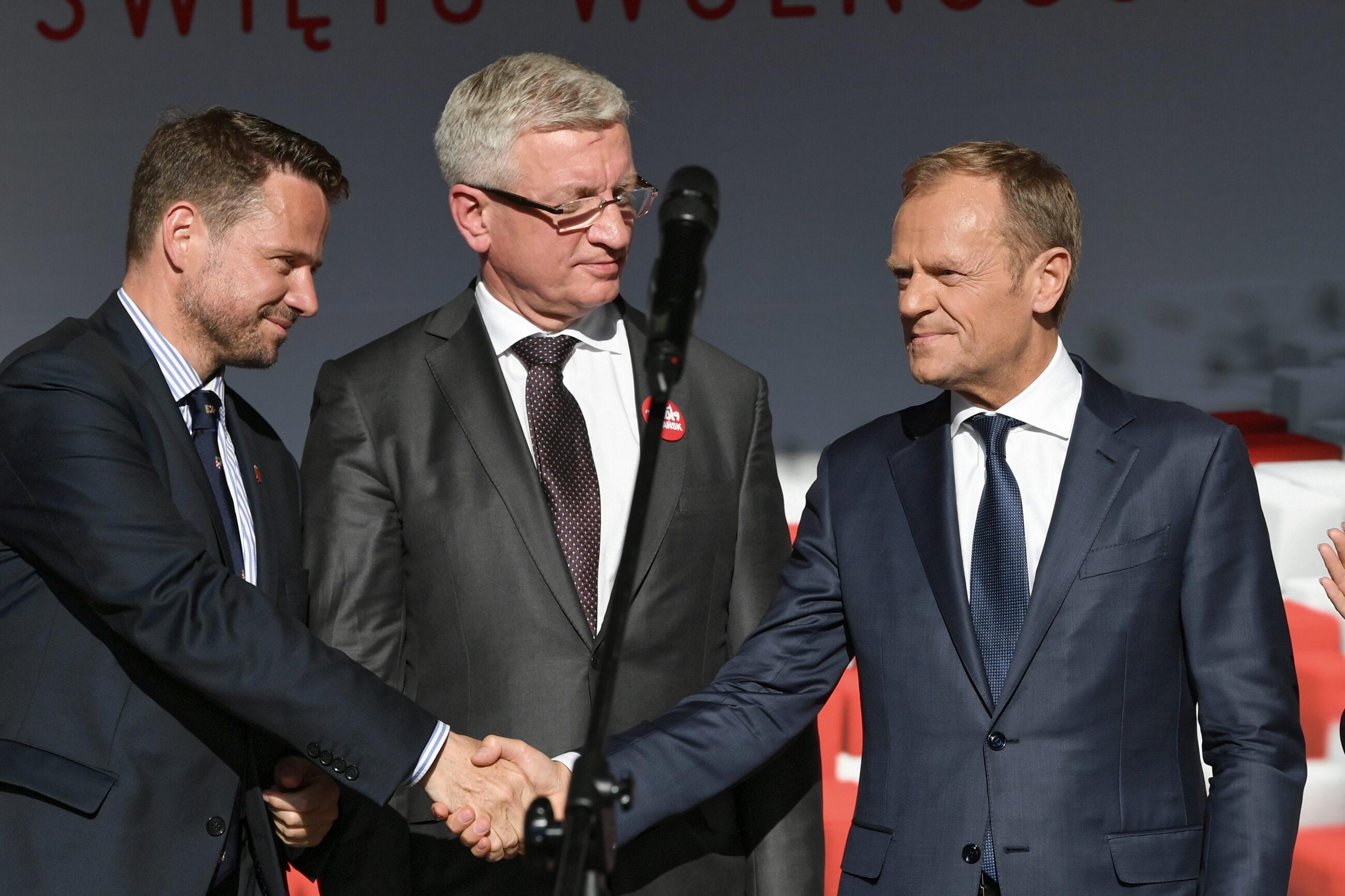 Rafał Trzaskowski, Jacek Jaśkowiak i Donald Tusk