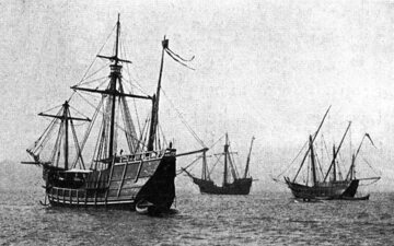 Repliki Niña, Pinta i Santa María w drodze z Hiszpanii na Hispaniolę, 1893 rok