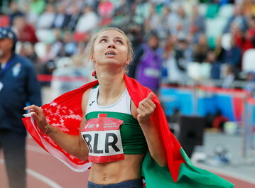 Reprezentantka Białorusi Krystsina Tsimanouskaya