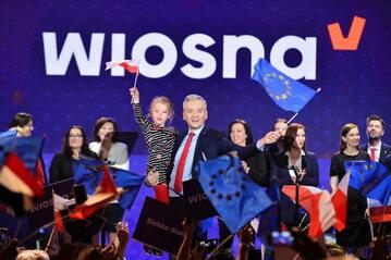 Robert Biedroń podczas konwencji partii Wiosna