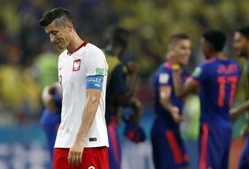 Robert Lewandowski po meczu z Kolumbią