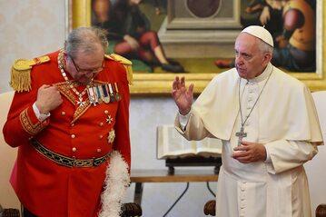 Robert Matthew Festing i papież Franciszek