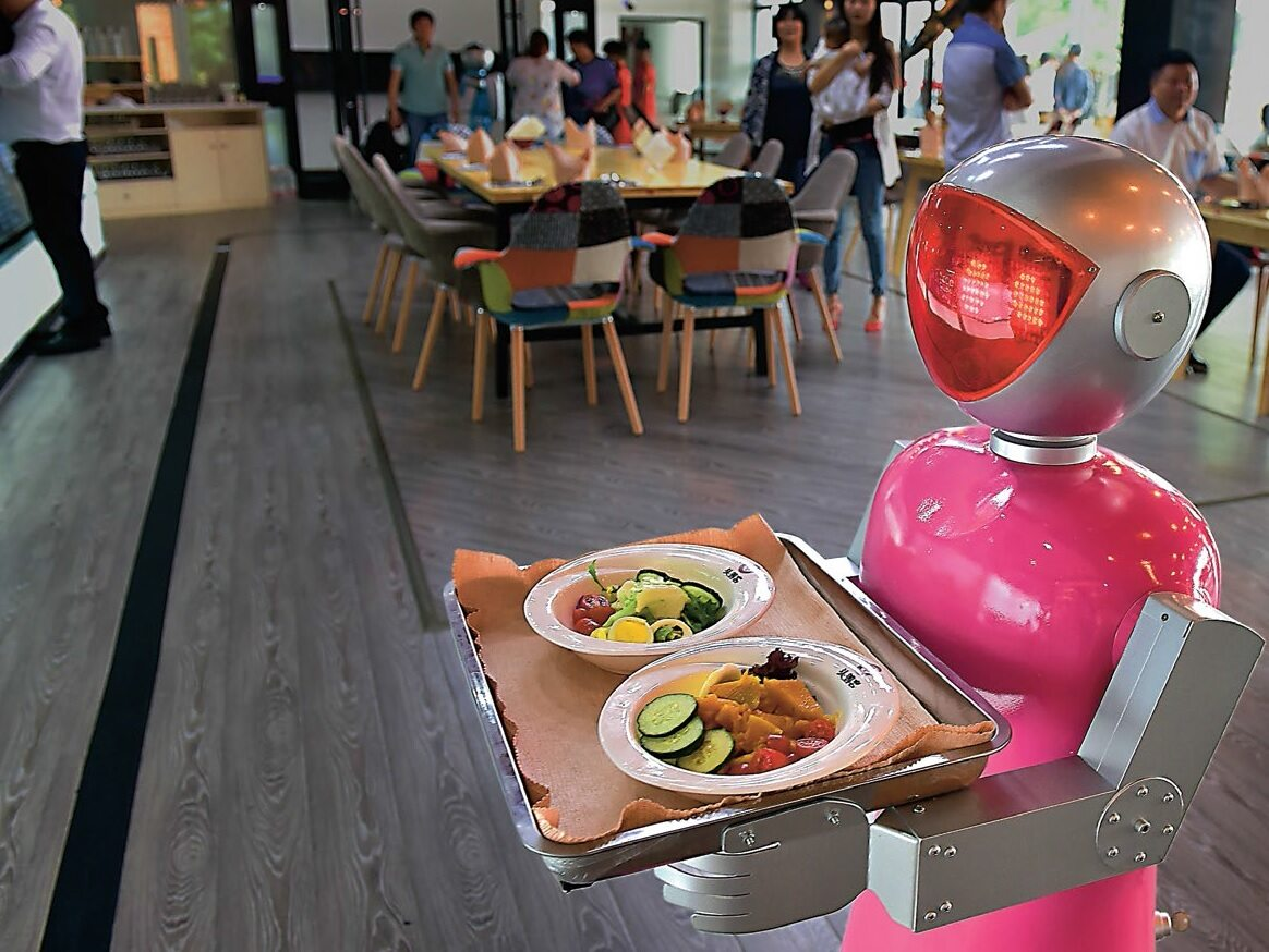 Roboty w chińskich restauracjach