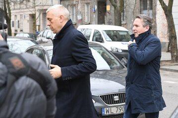 Roman Giertych i Gerald Birgfellner w drodze do prokuratury