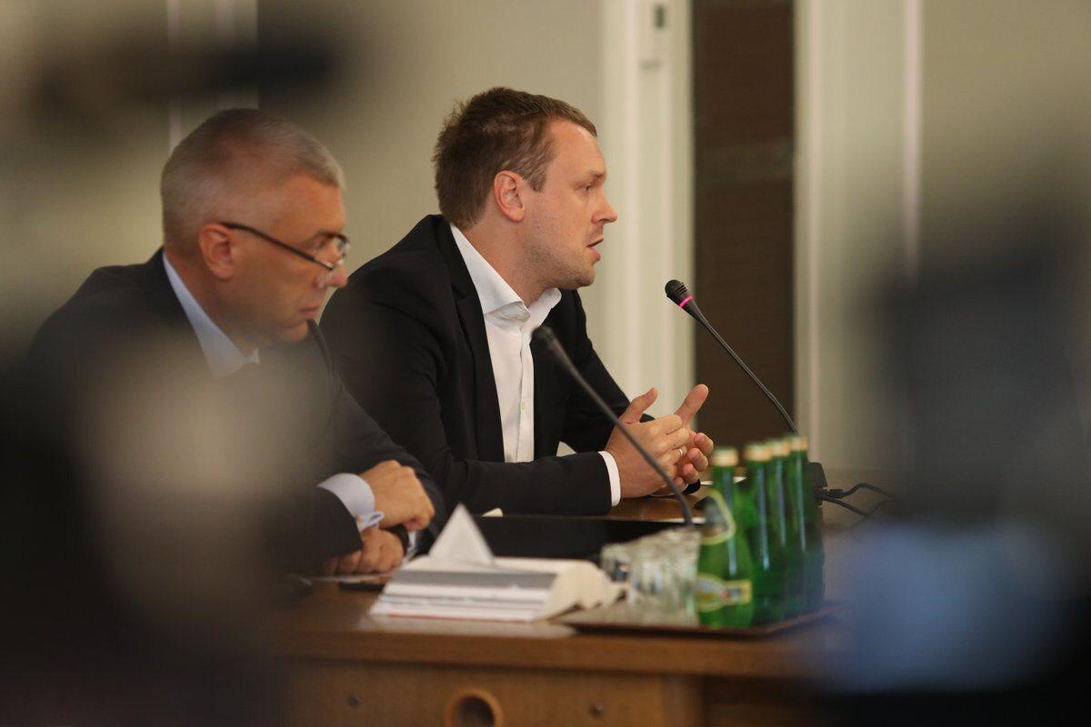 Roman Giertych i Michał Tusk na posiedzeniu sejmowej komisji śledczej ds. Amber Gold