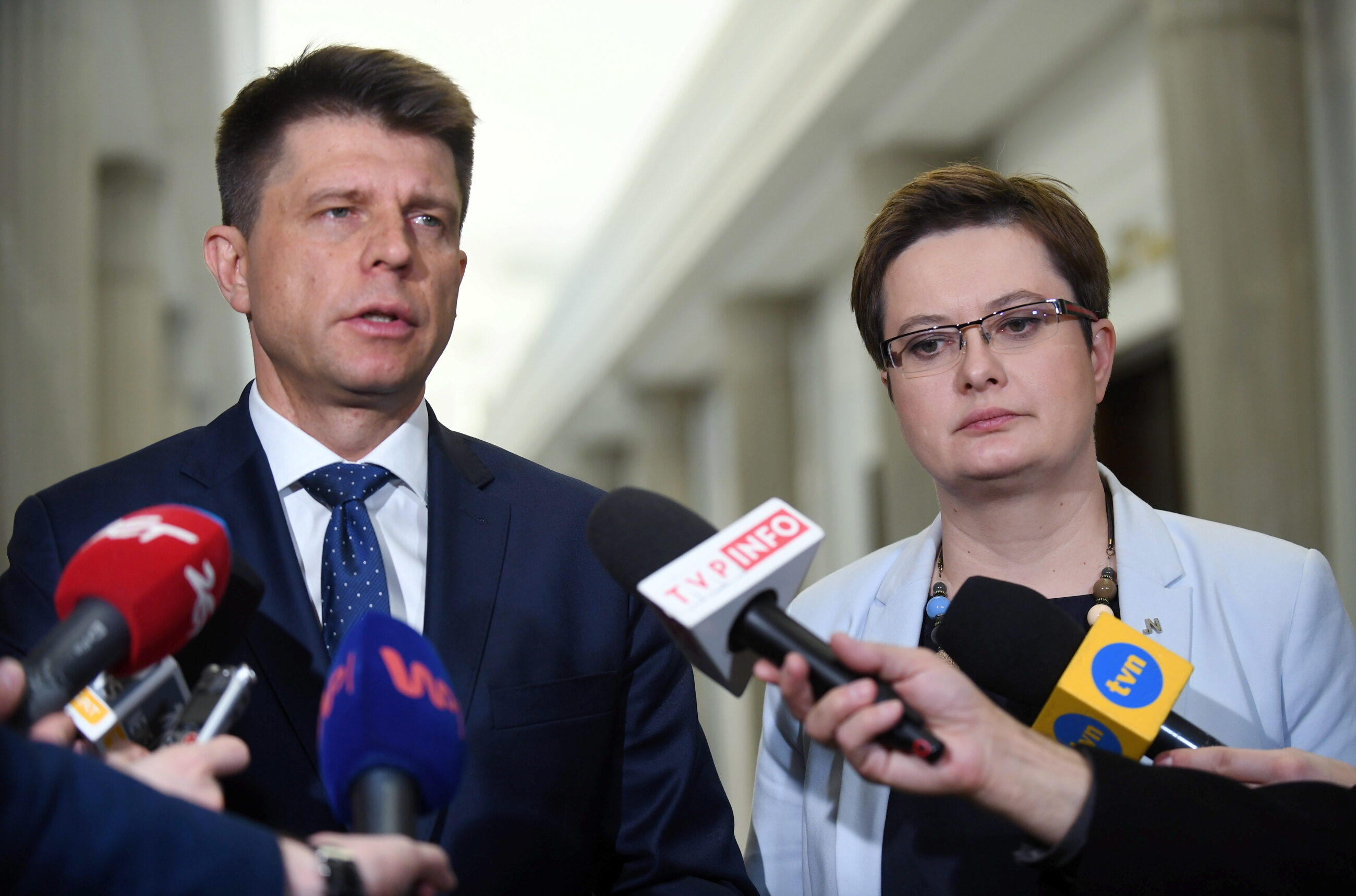 Ryszard Petru i Katarzyna Lubnauer