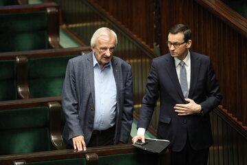 Ryszard Terlecki i Mateusz Morawiecki w Sejmie