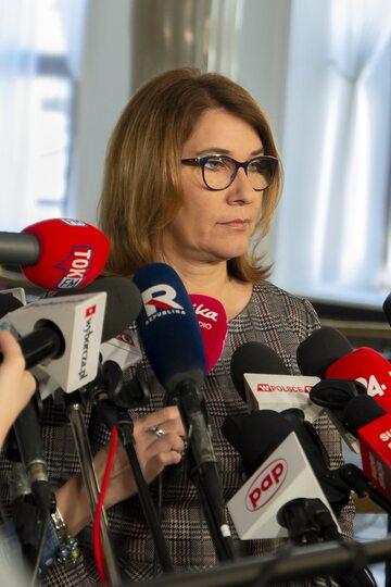Rzeczniczka PiS Beata Mazurek