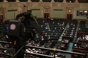 Sala plenarna Sejmu. Zdj. ilustracyjne