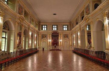 Sala Senatorska, miejsce obrad połączonych stanów na Zamku Królewskim w Warszawie