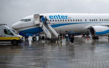 Samolot linii Enter Air, zdj. ilustracyjne