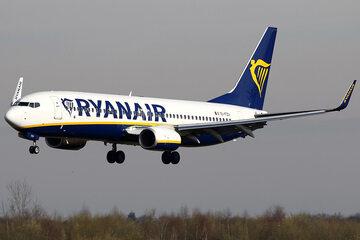 Samolot linii Ryanair, zdjęcie ilustracyjne