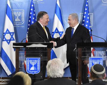 Sekretarz stanu USA Mike Pompeo i premier Izraela Benjamin Netanjahu