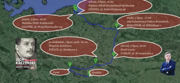 Sławomir Cenckiewicz busem po Polsce