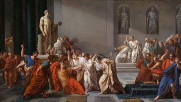 Śmierć Cezara. Obraz Vincenzo Camucciniego, ok. 1805 r.