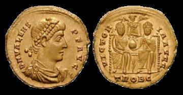 Solid z podobizną cesarza Walensa