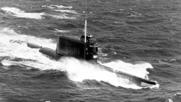 Sowiecki okręt podwodny typu 629A. K-129 była jednostką tego typu.