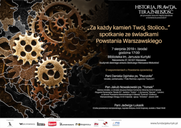 """Spotkanie prasowe """"Za każdy kamień Twój, Stolico…"""" – spotkanie ze świadkami Powstania Warszawskiego""""."""