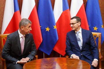 Spotkanie premiera Mateusza Morawieckiego z premierem Czech Andrejem Babišem