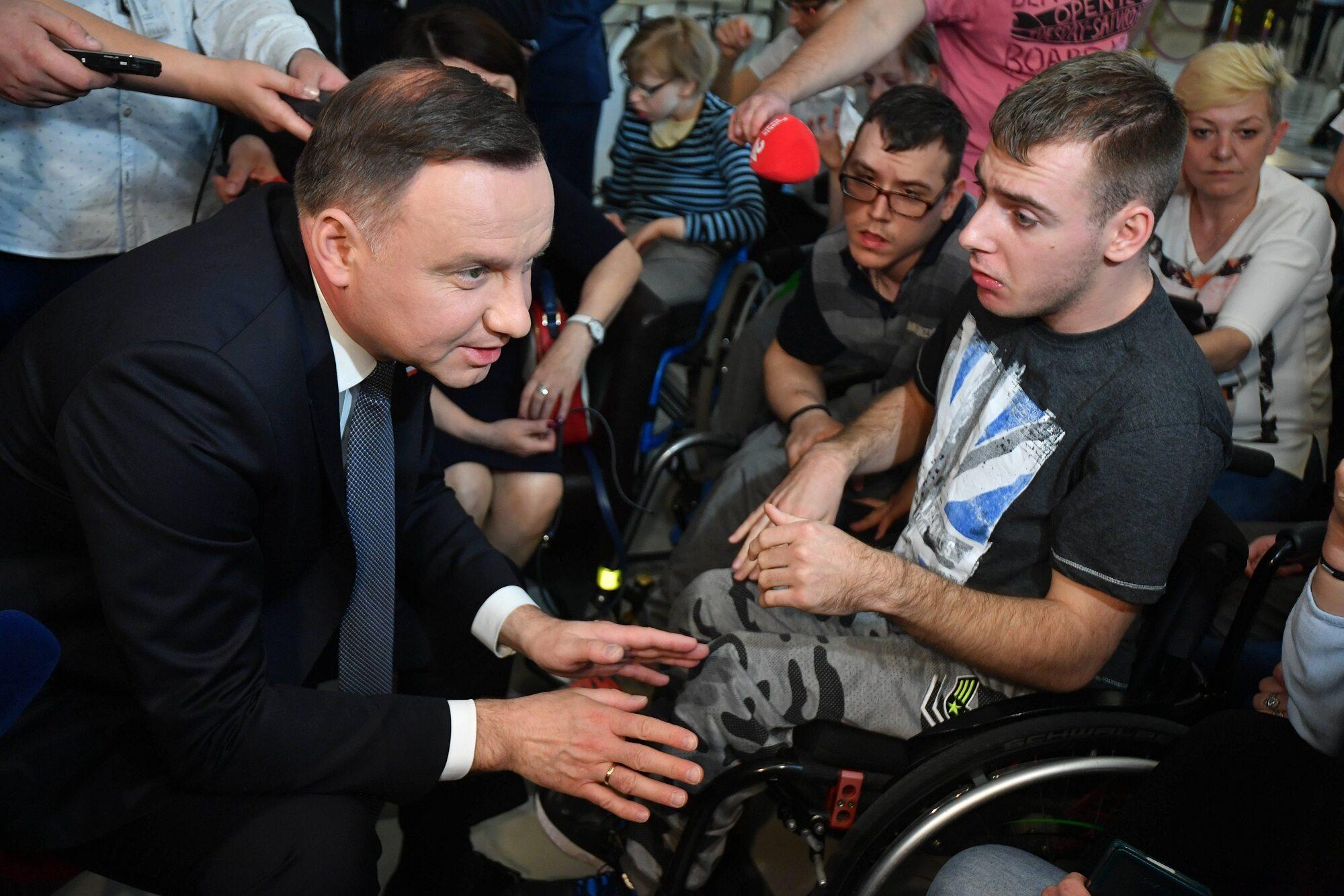 Spotkanie prezydenta Andrzeja Duda z protestującymi rodzicami osób niepełnosprawnych