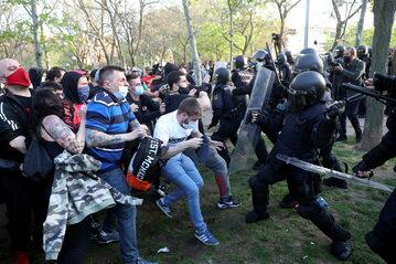 Starcia z policją w Madrycie