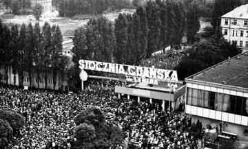 Strajki przed Stocznią Gdańską w sierpniu 1980 roku