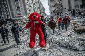 Strefa Gazy: Zgliszcza po ataku sił izraelskich