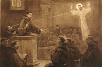 Św. Antoni Padewski (rysunek José Benlliure y Gil)