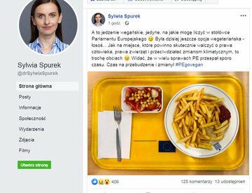 Sylwia Spurek narzeka na... jedzenie w Parlamencie Europejskim