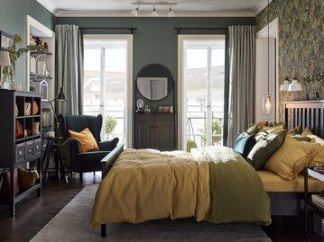 Sypialnia zielona – cynamonowa