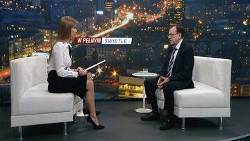 """Szef MSWiA Mariusz Kamiński był gościem programu """"W pełnym świetle"""""""