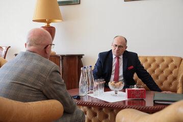 Szef MSZ Zbigniew Rau z wizytą roboczą w Kijowie