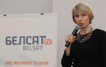 Szefowa telewizji Biełsat Agnieszka Romaszewska