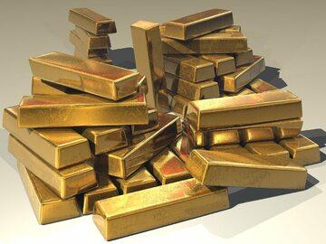 Sztabki złota, zdjęcie ilustracyjne