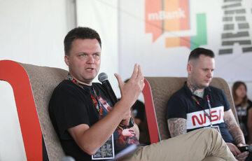 Szymon Hołownia podczas festiwalu Pol'and'Rock
