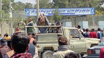 Talibowe na lotnisku w Kabulu