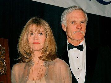 Ted Turner z żoną, Jane Fondą