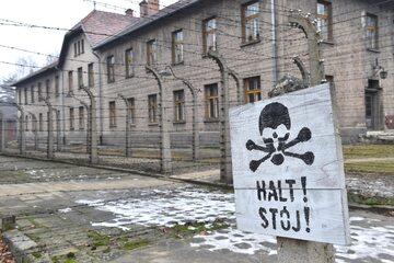 Teren byłego obozu Auschwitz