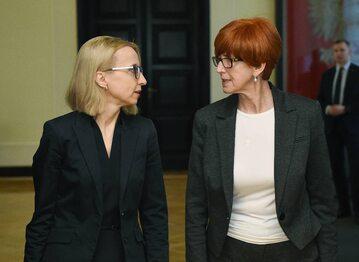 Teresa Czerwińska i Elżbieta Rafalska