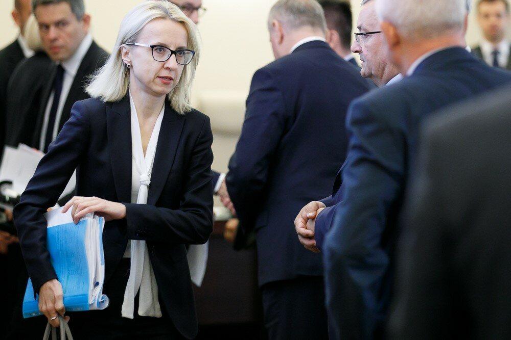 Teresa Czerwińska podczas posiedzenia rządu