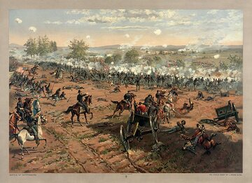 Thure de Thulstrup, Bitwa pod Gettysburgiem