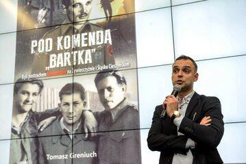 Tomasz Greniuch podczas spotkania zorganizowanego przez IPN w Lublinie